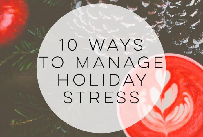 10 Ways to Manage Holiday Stress