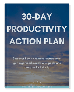 30 Day Productivity Plan