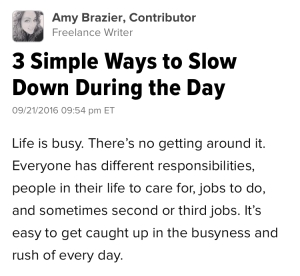 3 Simple Ways to Slow Down